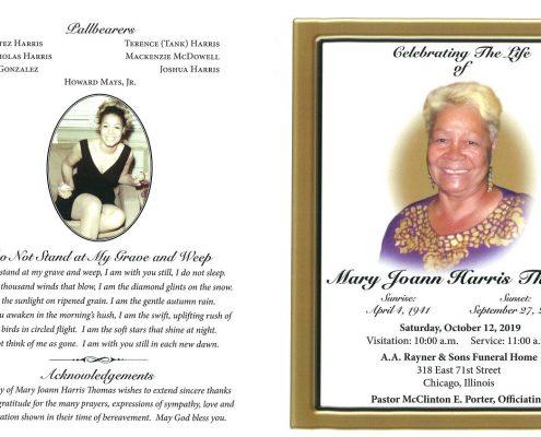 Mary Joann Harris Thomas Obituary