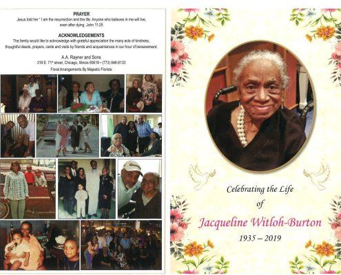 Jacqueline Witloh Burton Obituary