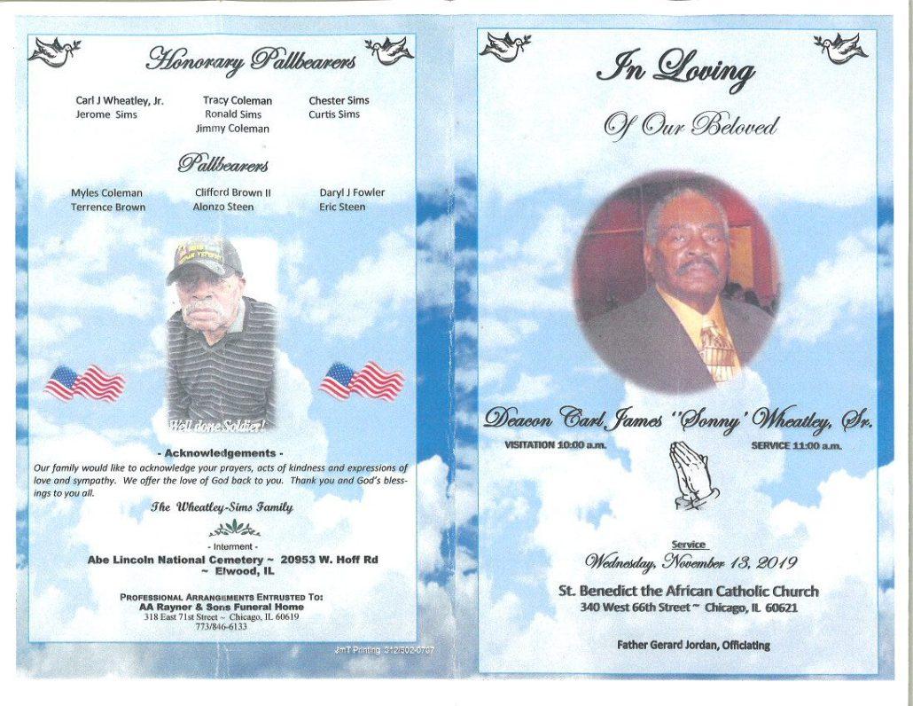 Carl J Wheatley Sr Obituary