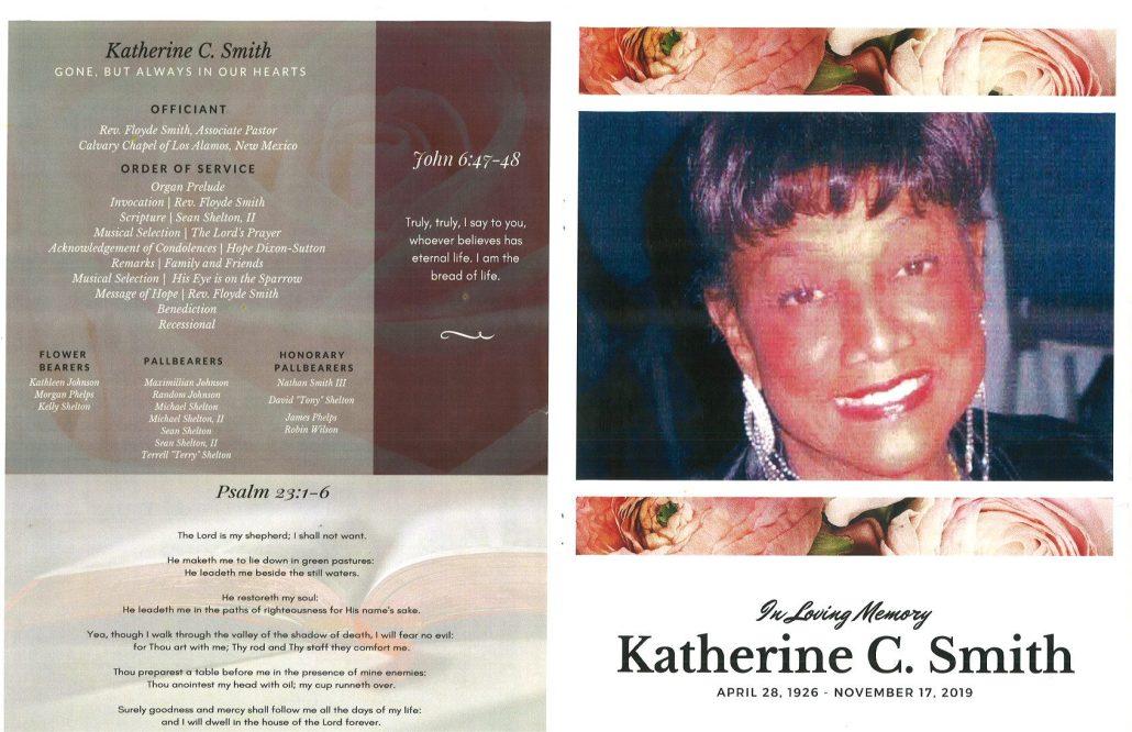 Katherine C Smith Obituary
