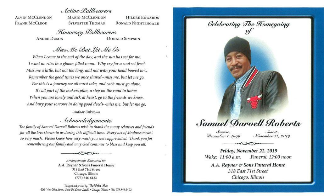 Samuel D Roberts Obituary