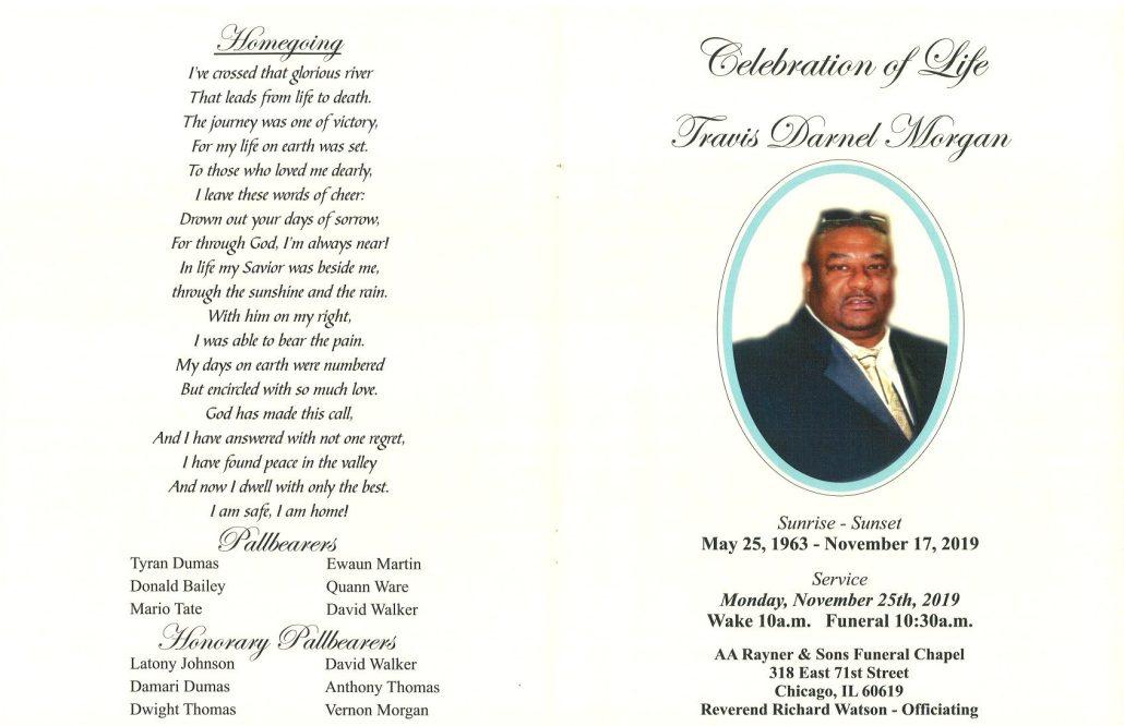 Travis D Morgan Obituary
