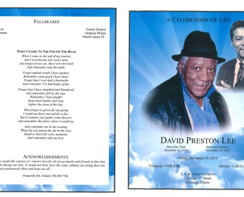 David Preston Lee Obituary