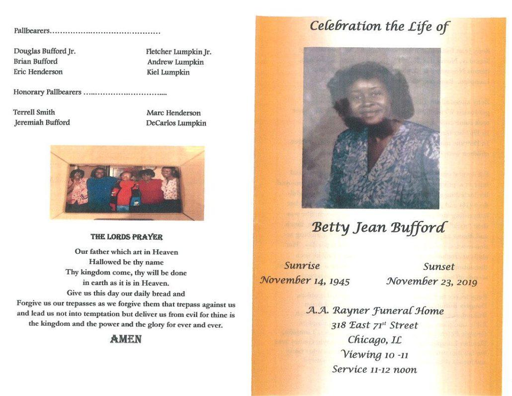 Betty J Bufford Obituary