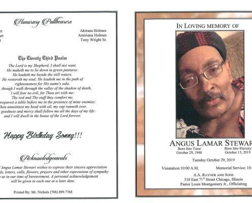 Angus L Stewart Obituary