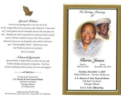 Gloria Jones Obituary