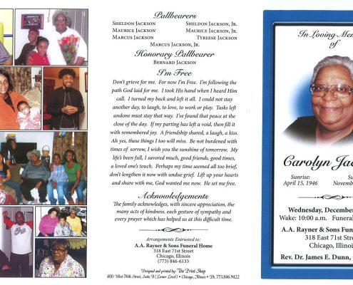 Carolyn Jackson Obituary