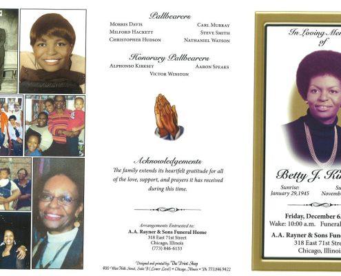 Betty J Kirksey Obituary