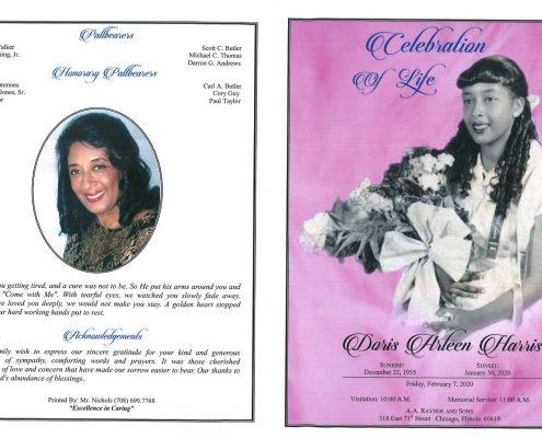 Doris A Harris Obituary