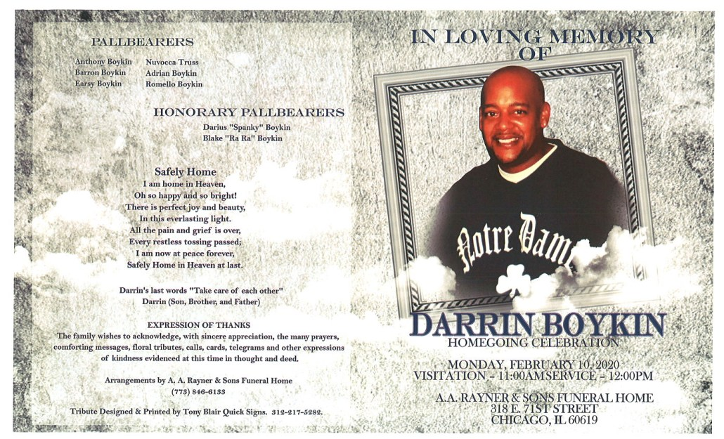 Darrin Boykin Obituary