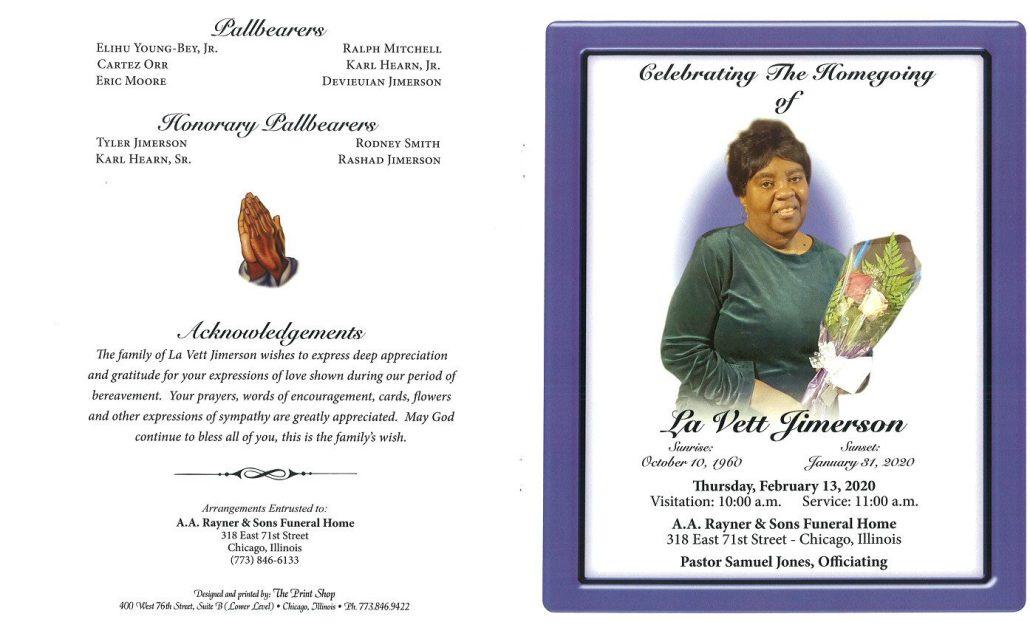 La Vett Jimerson Obituary