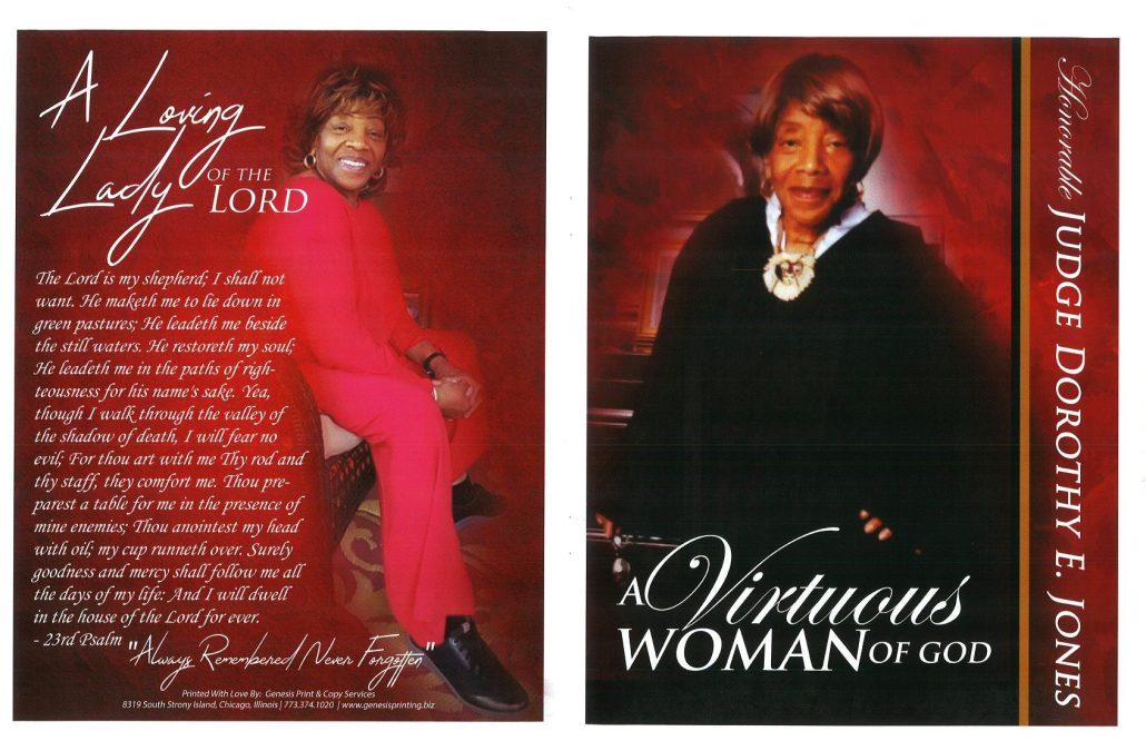 Judge Dorothy E Jones Obituary