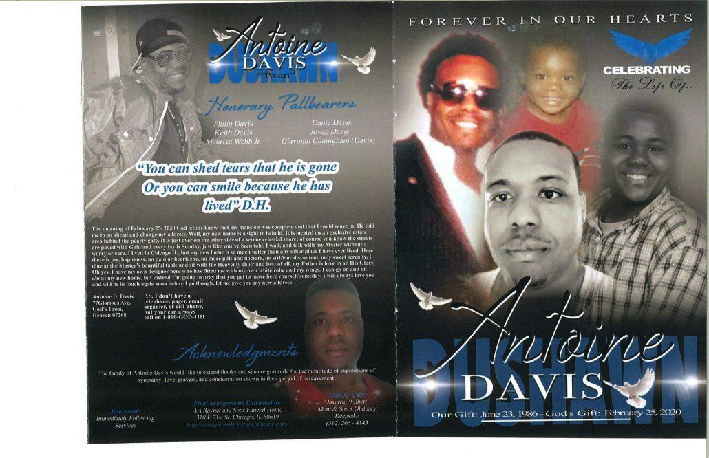 Antoine Davis Obituary