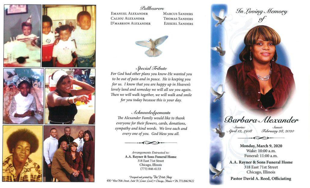 Barbara Alexander Obituary