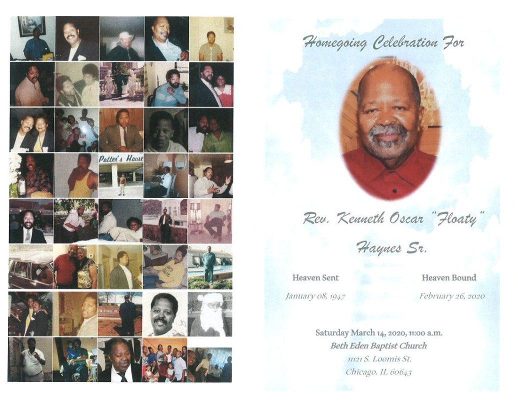 Rev Kenneth Haynes Sr Obituary