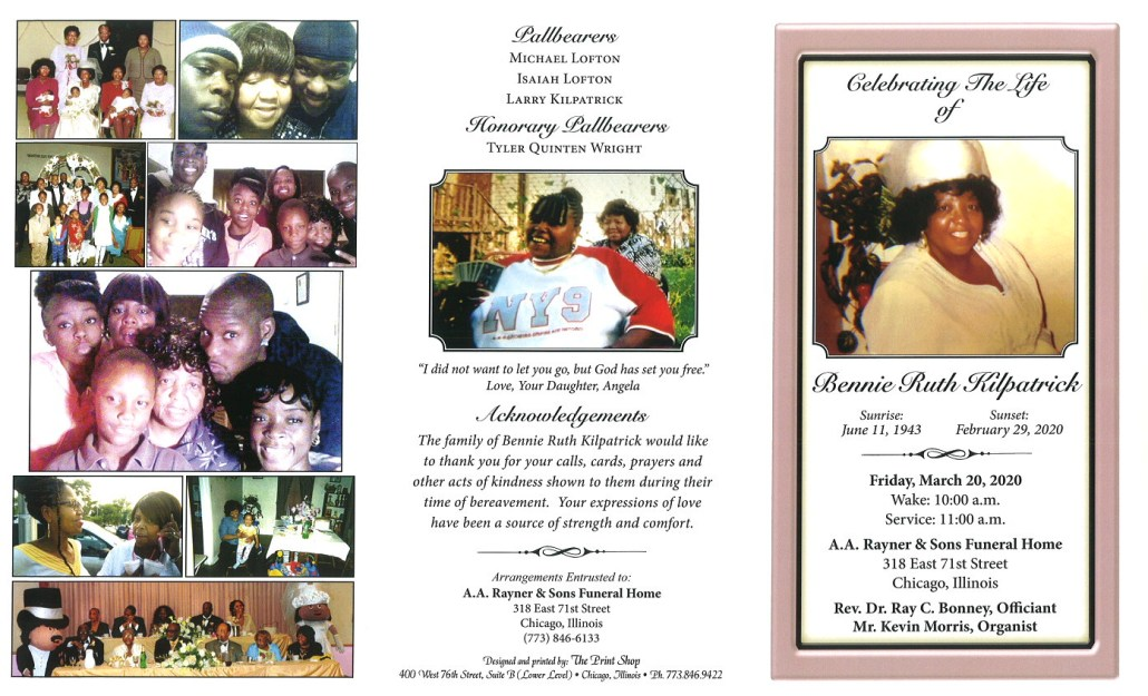 Bennie Ruth Kilpatrick Obituary
