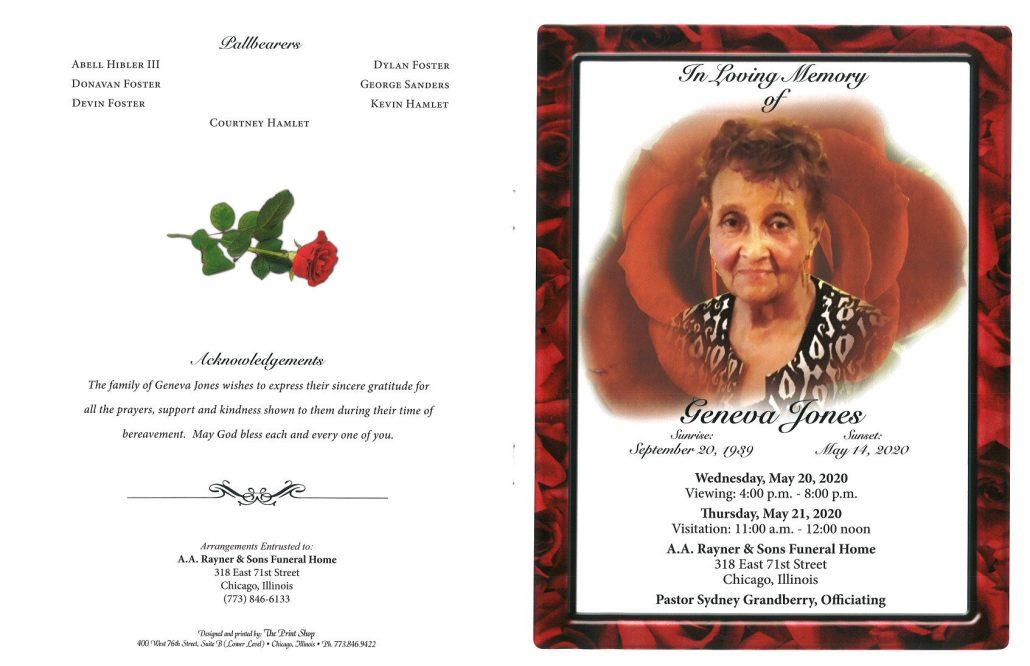 Geneva Jones Obituary