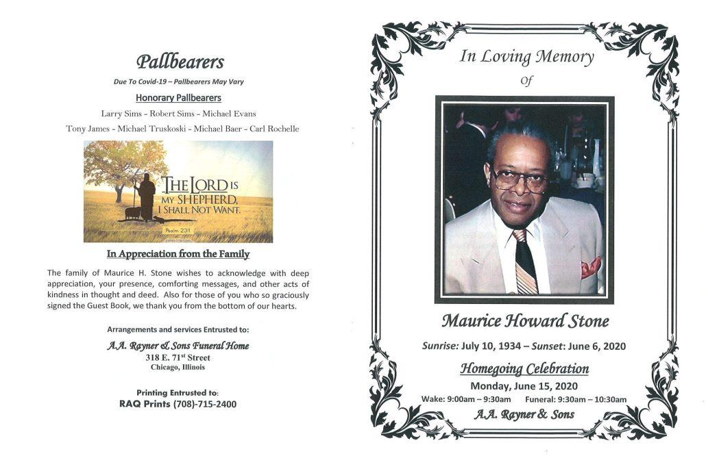 Maurice H Stone Obituary