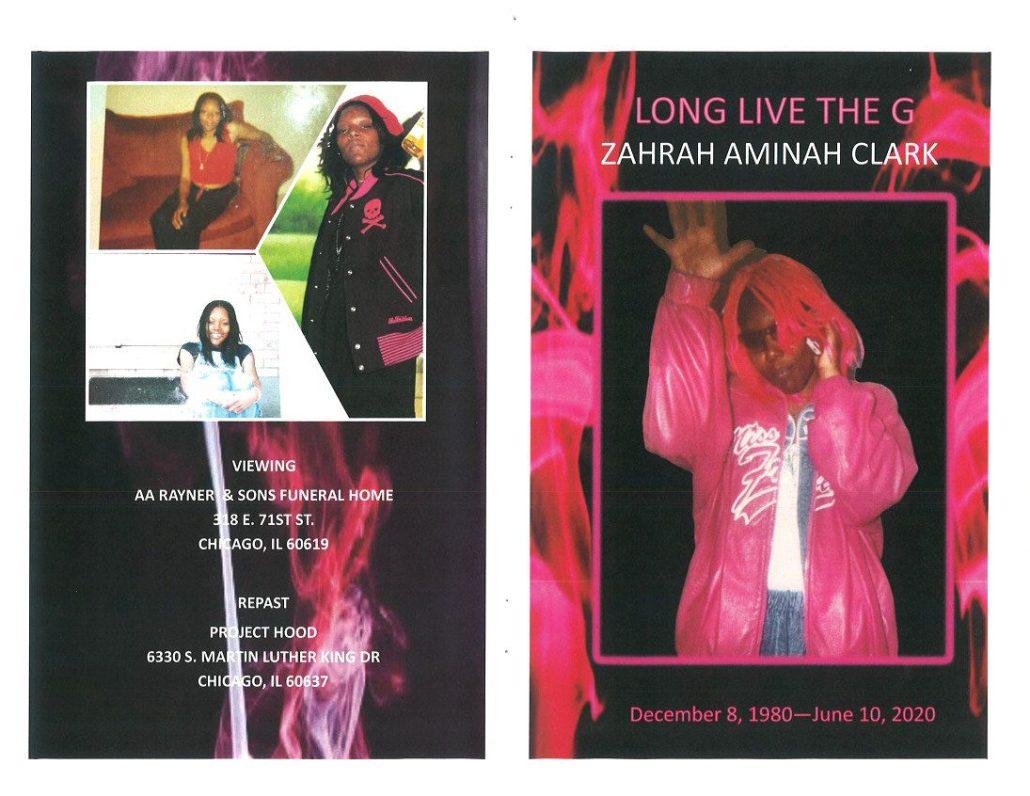 Zahrah A Clark Obituary