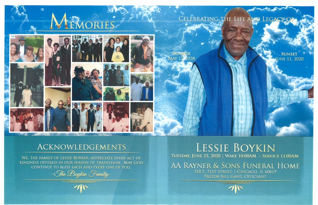 Lessie Boykin Obituary