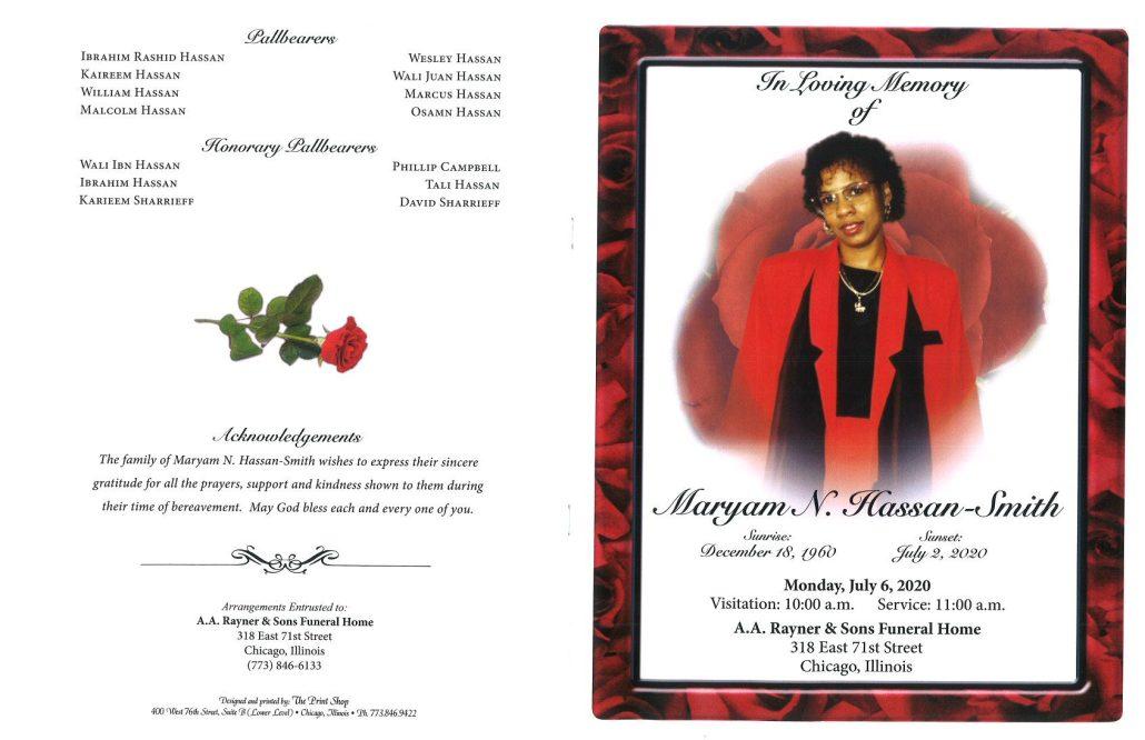 Maryam N Hassan Smith Obituary