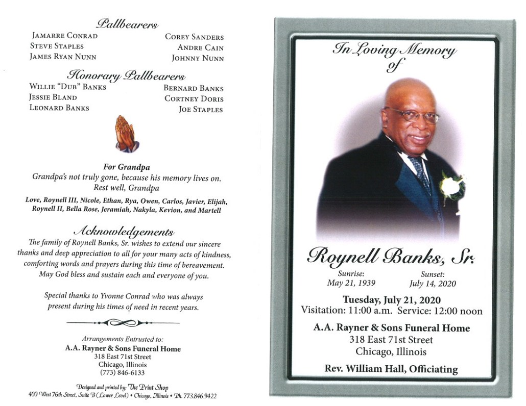 Roynell Banks Sr Obituary