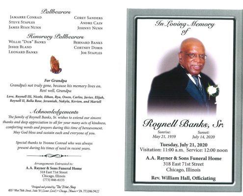 Roynell Banks Sr Obituary