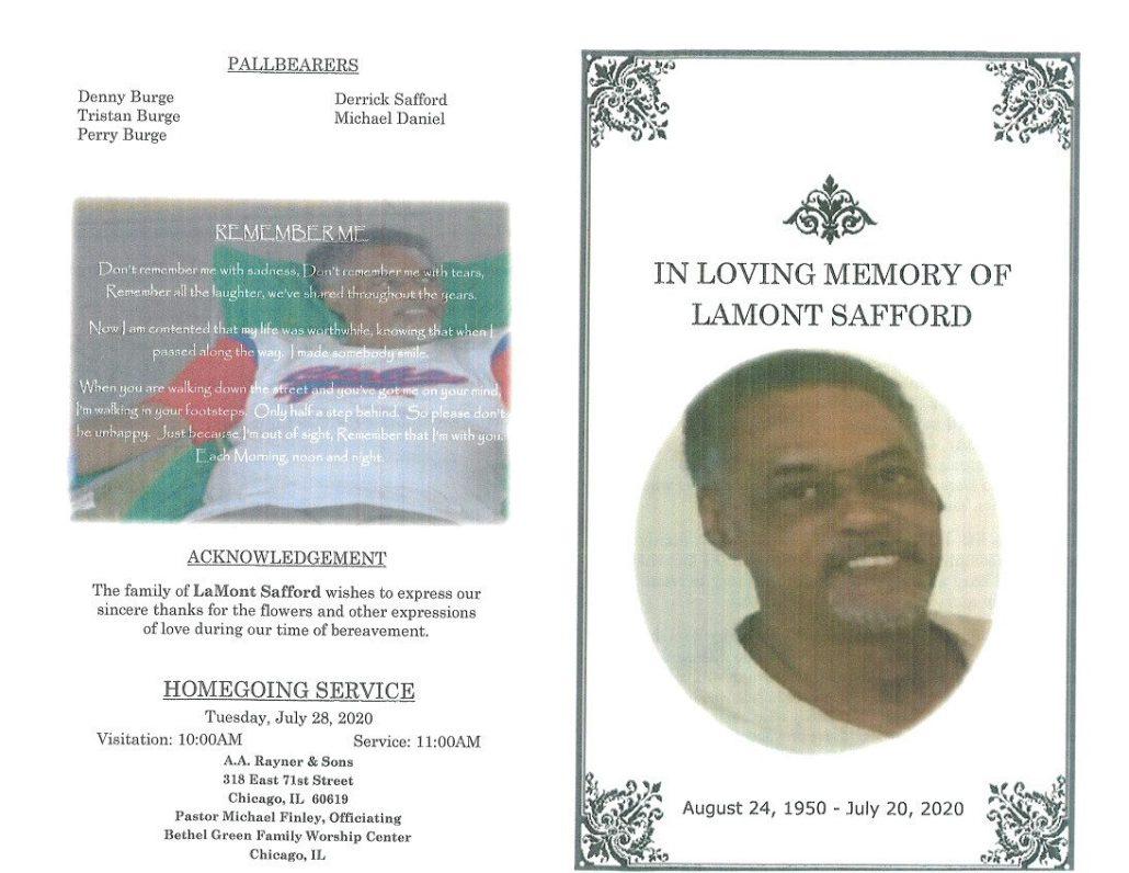 Lamont Safford Obituary