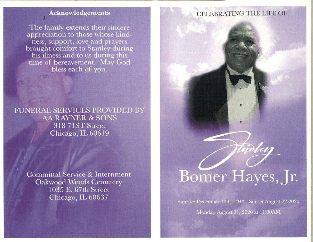 Stanley B Hayes Jr Obituary