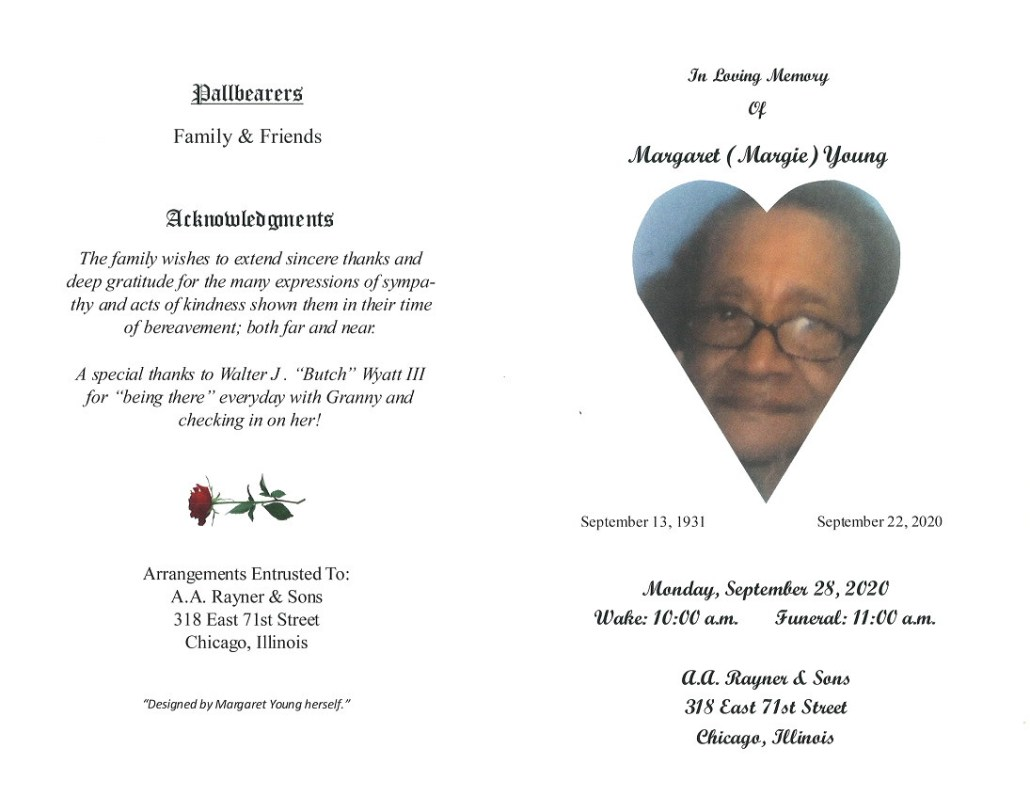 Margaret Young Obituary