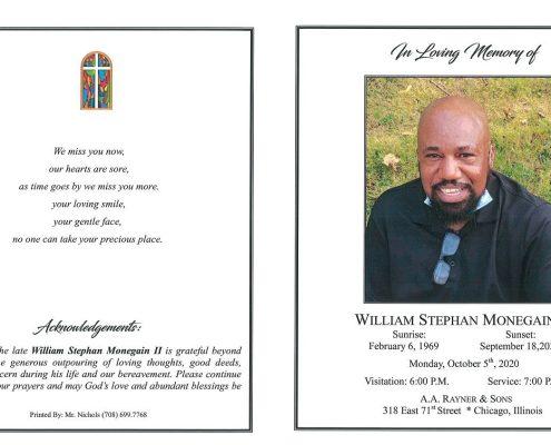 William S Monegain II obituary