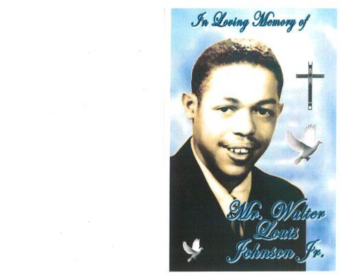 Walter L Jackson Jr Obituary