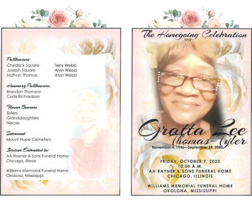 Gratta L Thomas Tyler Obituary