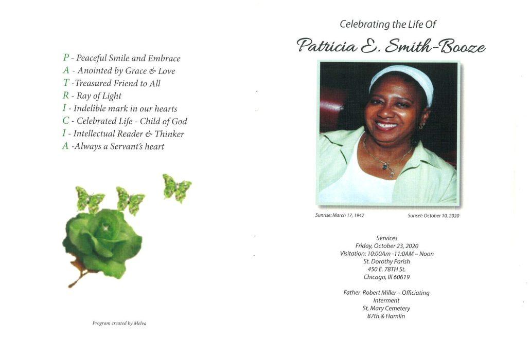 Patricia Smith Booze Obituary