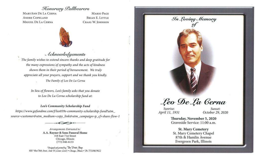 Leo De La Cerna Obituary