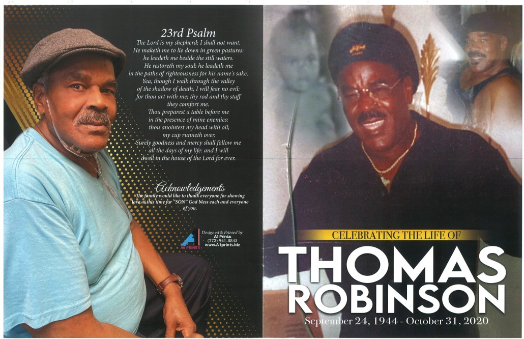 Thomas Robinson Obituary