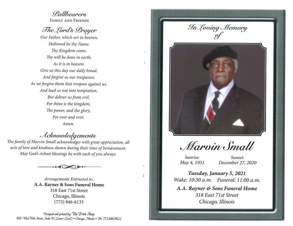 Marvin Small Obituary