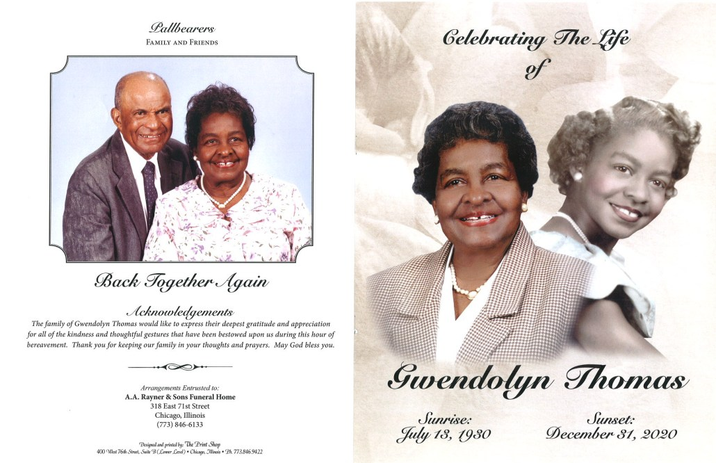 Gwendolyn Thomas Obituary