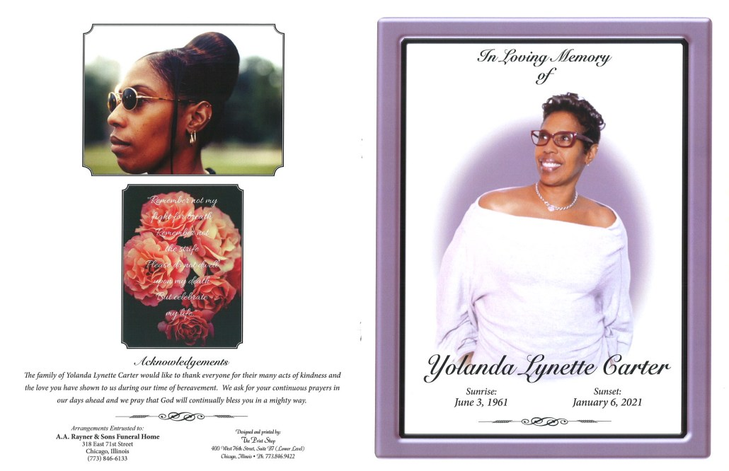 Yolanda L Carter Obituary