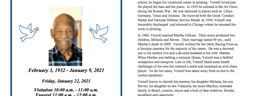 Vernell Dial Obituary