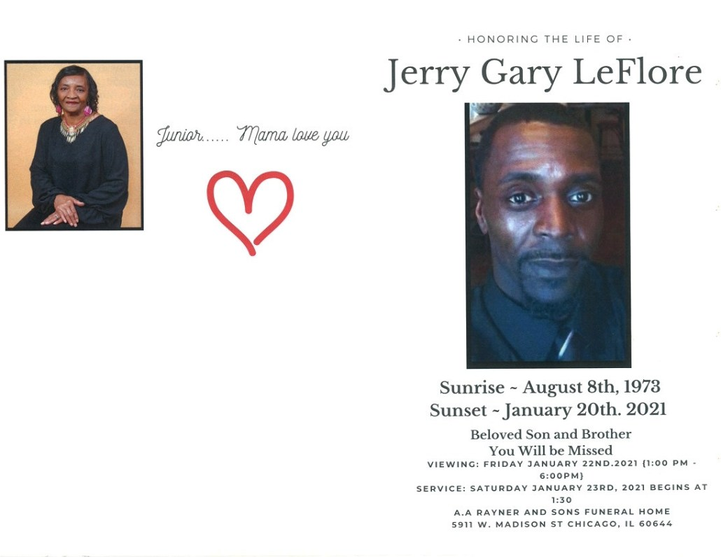 Jerry G Leflore Obituary