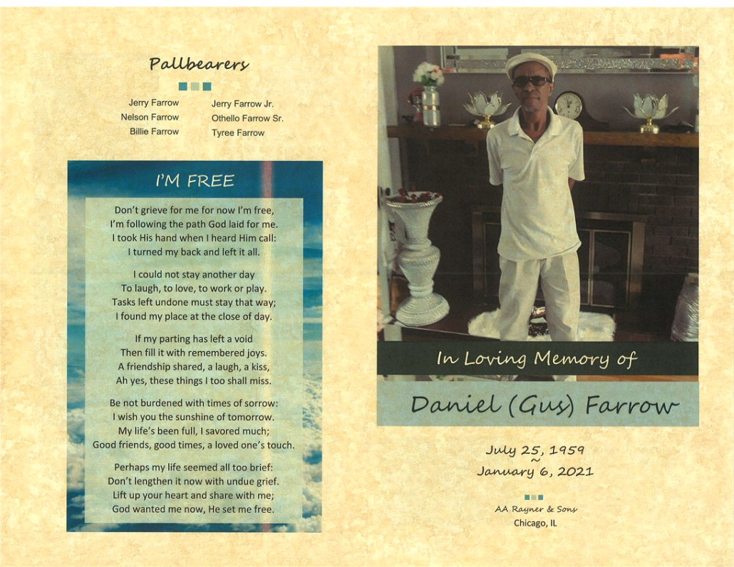 Daniel Gus Farrow Obituary