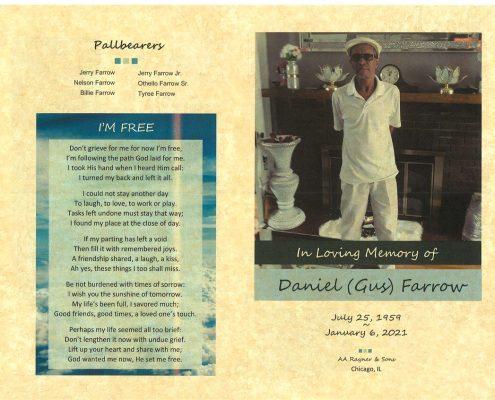Daniel Gus Farrow Obituary