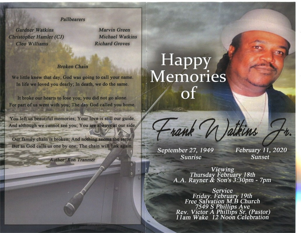 Frank Watkins Jr Obituary