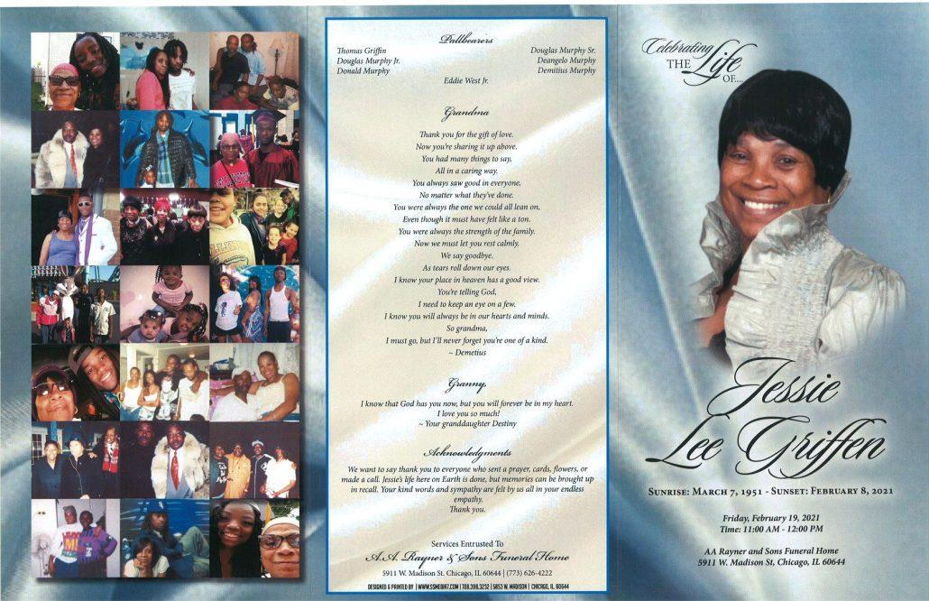 Jessie L Griffen Obituary