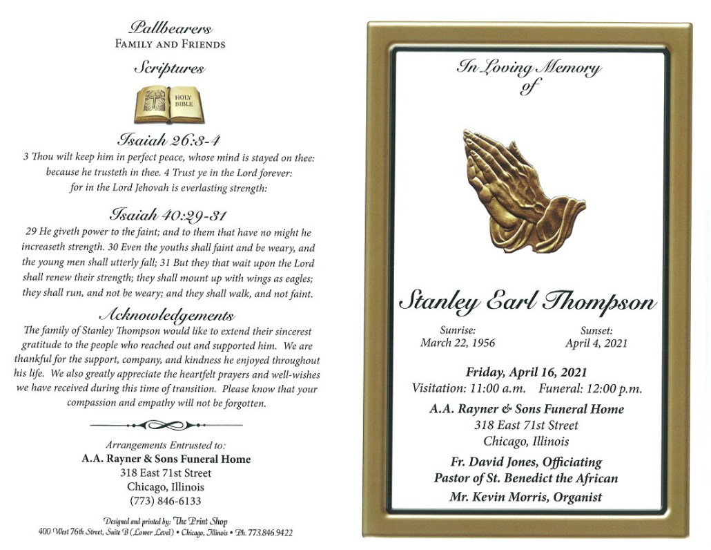 Stanley E Thompson Obituary