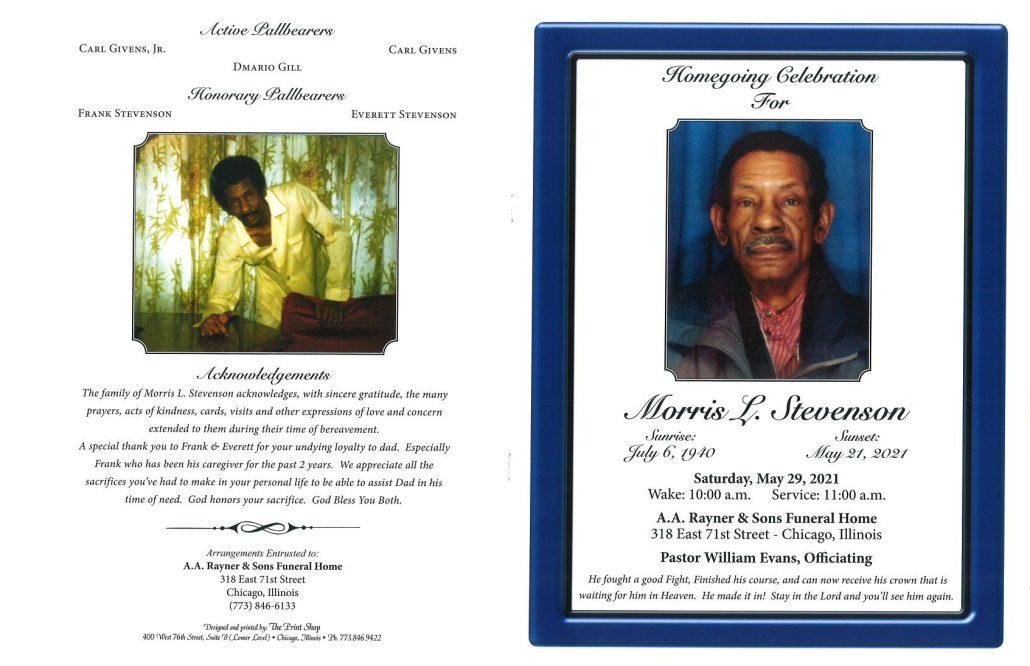 Morris L Stevenson Obituary