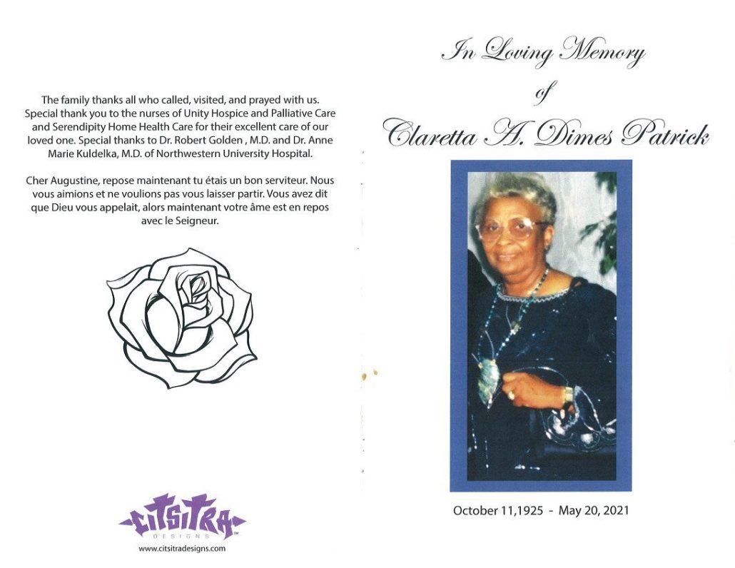 Claretta Dimes Patrick Obituary