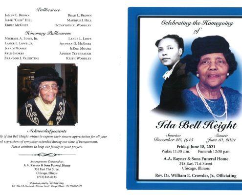 Ida B Height Obituary