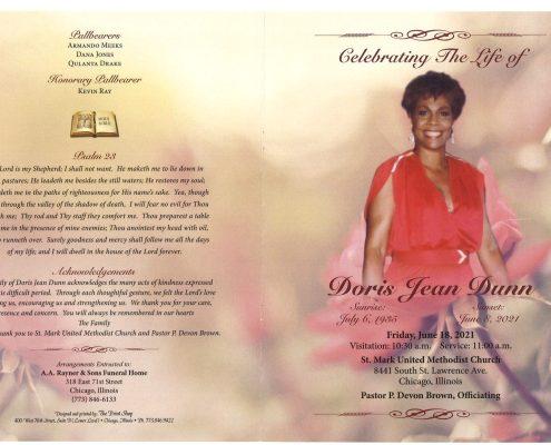 Doris J Dunn Obituary